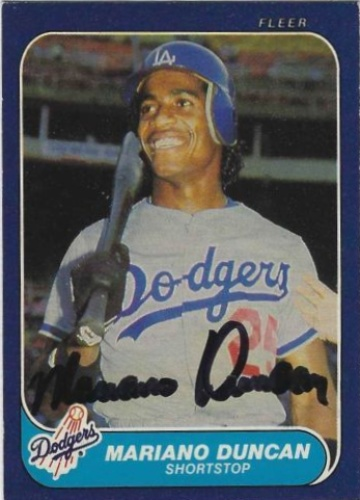 Mariano Duncan Autographs And Memorabilia Sports Baseball