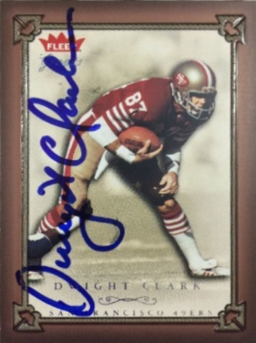 3a65cd1e953 Dwight Clark Autographs and Memorabilia