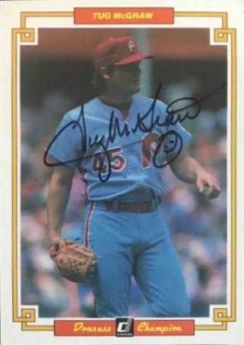 Tug Mcgraw Autographs And Memorabilia Sports Baseball