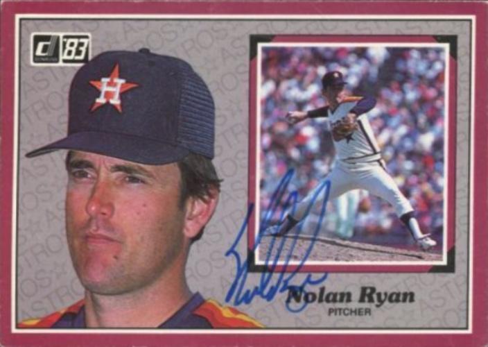 Nolan Ryan Autographs And Memorabilia Sports Baseball
