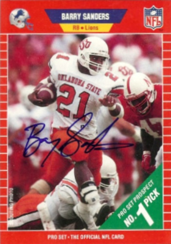 sneakers for cheap 2868c a06c4 Barry Sanders Autographs and Memorabilia   Sports, Football