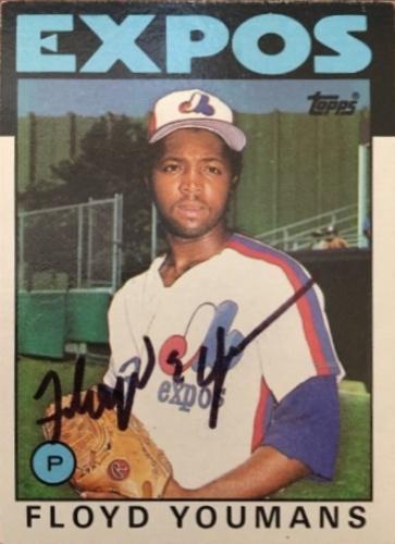 Floyd Youmans Autographs And Memorabilia Sports Baseball