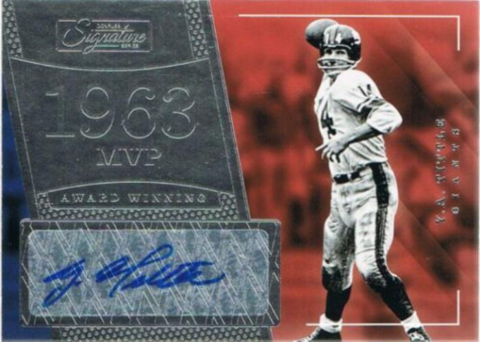 buy popular d5ac6 df95c Y.A. Tittle Autographs and Memorabilia | Sports, Football