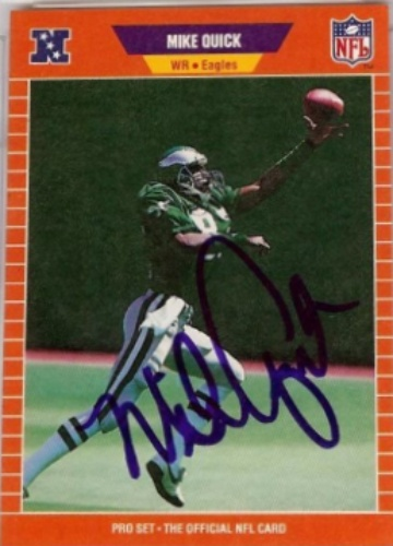 best authentic 81fa7 caeb5 Mike Quick Autographs and Memorabilia | Sports, Football