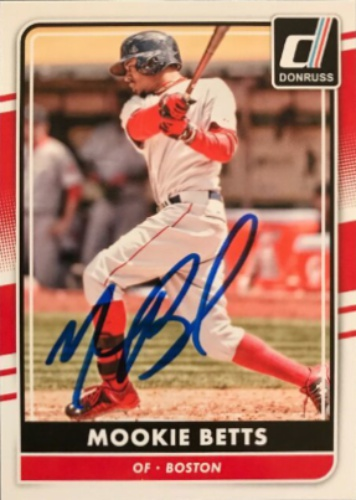 Mookie Betts Autographs And Memorabilia Sports Baseball