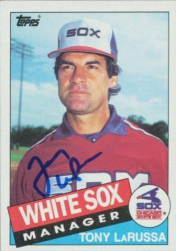 Tony Larussa Autographs And Memorabilia Sports Baseball
