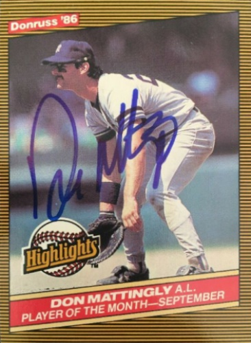 7073fd0fe64 Don Mattingly Autographs and Memorabilia