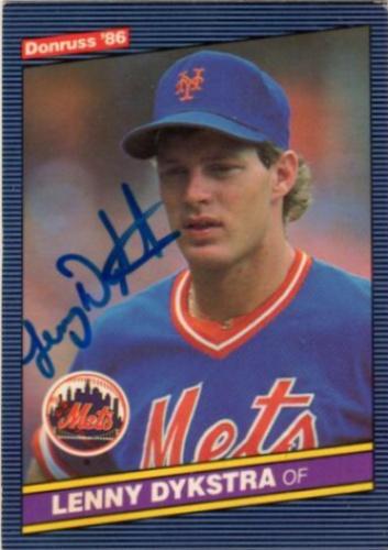 Lenny Dykstra Autographs And Memorabilia Sports Baseball