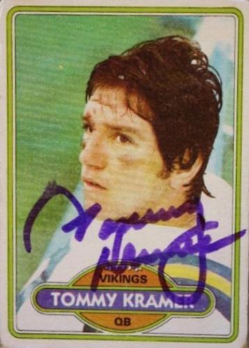 size 40 552bd 1d947 Tommy Kramer Autographs and Memorabilia | Sports, Football